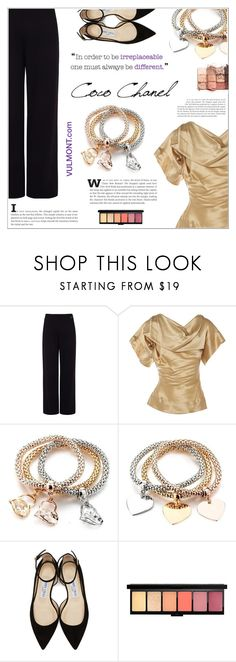 """Golden Elegance"" by shambala-379 ❤ liked on Polyvore featuring Pink Tartan, Vivienne Westwood, Chanel, Jimmy Choo and tarte"