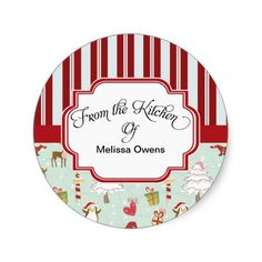 Festive Custom Santa Claus From the Kitchen of Baking Stickers