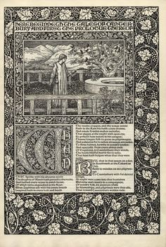 William Morris, page from The Works of Geoffrey Chaucer, Kelmscott Press, 1896