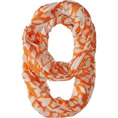 Pistil Kenzie Infinity (Melon) Scarves (270 ZAR) ❤ liked on Polyvore featuring accessories, scarves, orange, tube scarf, colorful infinity scarves, round scarf, infinity scarf shawl and multi colored infinity scarf