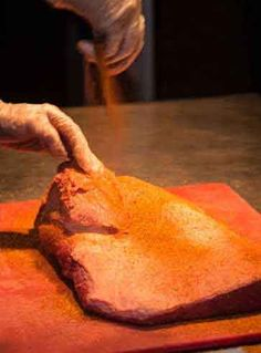 Barbecue beef brisket is the national dish of the Republic of Texas. Here's the recipe for how to cook it the way the BBQ champions abd BBQ restaurants cook it. Brisket Seasoning, Brisket Rub, Smoked Beef Brisket, Beef Ribs, Bbq Beef, Seasoning Mixes, Dry Rubs, Bbq Dry Rub, Dry Rub Recipes