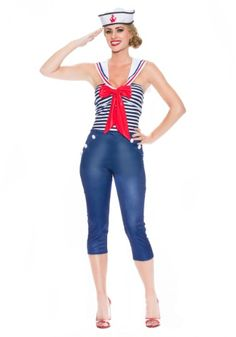 Womens Come Sail Away Costume