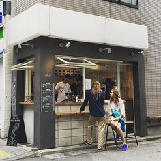 Though it might well be the smallest coffee shop in all of tokyo, i' Cafe Shop Design, Kiosk Design, Small Coffee Shop, Coffee To Go, Mini Cafeteria, Container Coffee Shop, Coffee Carts, Coffee Truck, Cafe Concept