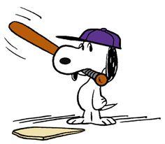 Snoopy Beagle Baseball Batter