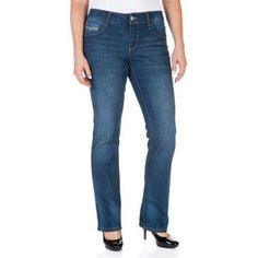 Faded Glory Women's Straight Leg Jeans Available in Regular, Petite, and Tall Lengths, Size: 16 Tall, Gray