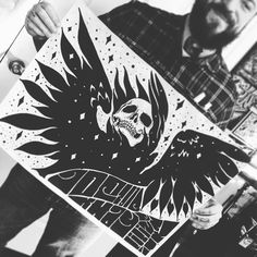 #reaper #reapertattoo #666 #stonermetal #poster #musicposter #inkslinger #flashfriday #2016 #brooklyn #nuc #blackmetal #inkslinger #ink #instagood #instalike #