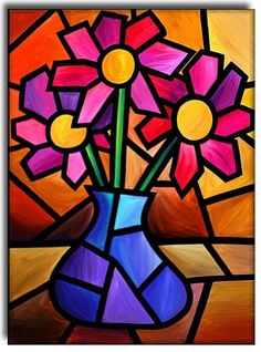 Stained Glass Candle Drawing · Art Projects for Kids- Art Drawings For Kids, Art For Kids, Candle Drawing, Drawing Art, Cubism Art, Oil Pastel Art, Oil Pastel Paintings, Flower Art, Art Flowers