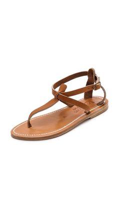 { k. jacques buffon t-strap sandals }