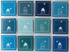 Vánoční přání 13x13cm Diy Christmas Cards, Christmas Time, Kid Friendly Art, Art For Kids, Crafts For Kids, Winter Art, Xmas Crafts, Art Plastique, Diy Cards