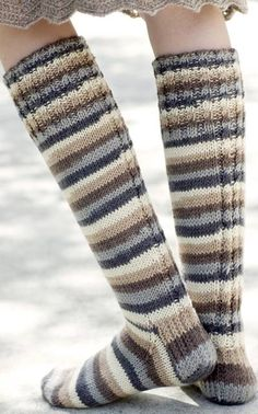 Nordic Yarns and Design since 1928 Thigh High Socks, Knee Socks, Boot Socks, Knitting Socks, Hand Knitting, Knitting Patterns, Crochet Socks Pattern, Knit Crochet, Sexy Socks