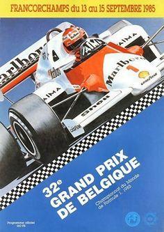 Belgian Grand Prix 1985 programme