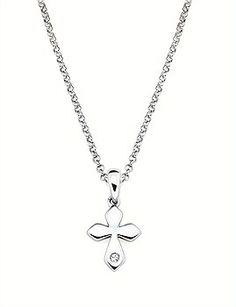 Little Diva Diamonds 925 Sterling Silver Diamond Accent Butterfly Pendant Necklace with 16 Chain