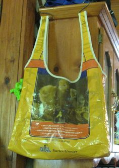 Feed Sack  Shopping or Whatever bag. Made from present day feed sack.