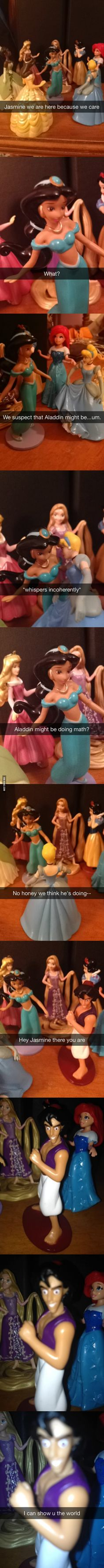 Jasmine, we suspect that Aladdin might be… - 9GAG