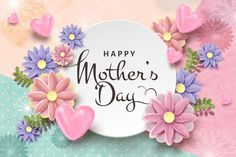 Mothers Day Card Template, Mothers Day Cards, Happy Mothers Day, Happy Mother's Day Card, Happy Day, Mom Day, Mother And Father, Special Day, Paper Flowers