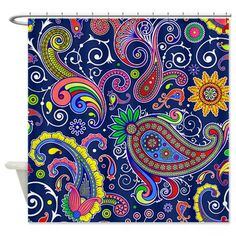 Mexican Sun And Moon Shower Curtain On CafePress