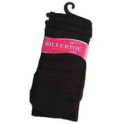 Silvertoe by Gold Toe Women's Massaging Sole Dress Sock, Black, Shoe Size 6-9, 3-Pair