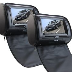 189.65$  Buy here - http://aliix0.worldwells.pw/go.php?t=32726451254 - 7 Inch LCD Dual Screen Portable DVD Player Black Pair of Car Headrest Video Player LCD Monitor/IR Transmitter with Remote Contr 189.65$