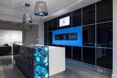 electronic living / sublime architectural interiors Blue Agate