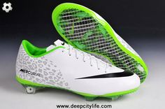 2014 Nike Mercurial Vapor IX FG Reflective (White Black) Soccer Cleats