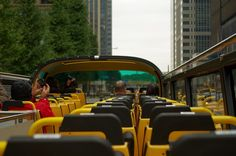 Sky Hop Bus in Tokyo.  A great way to see the city.  You can cruise along up on the deck and see everything below you.  Then when you are ready you can get off at a stop and explore the city on foot!