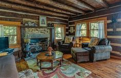 Tastefully Renovated Log Cabin | CIRCA Old Houses | Old Houses For Sale and Historic Real Estate Listings
