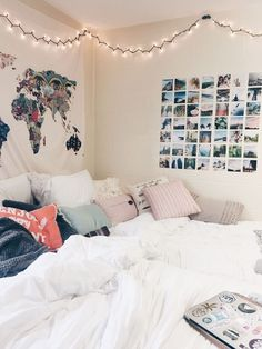 Teen girl bedrooms, pop to this plan for one surprising spectacular room makeover, reference number 6059855961 Dorm Room Walls, Cute Dorm Rooms, Bedroom Wall, Bedroom Decor, Target Bedroom, Modern Bedroom, White Bedroom, Bed Room, Bedroom Inspo