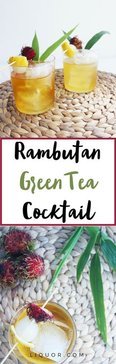 Just as tasty as it is beautiful! You've gotta try this #greentea #cocktail