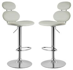 A Pair of Bolla Kitchen Stools in White.