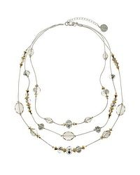 Neutral Illusion Layered Necklace #whbm