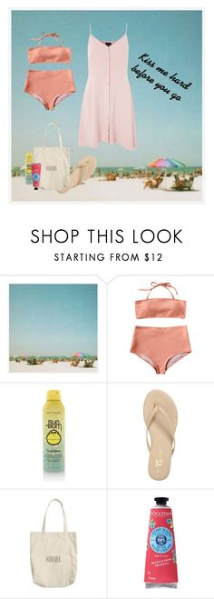 """Kiss me hard before you go"" by frwhd ❤ liked on Polyvore featuring Pottery Barn, Sun Bum, Yosi Samra, L'Occitane and Topshop"