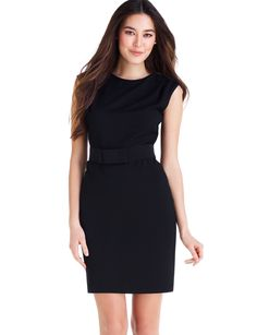 Folded shoulder dress