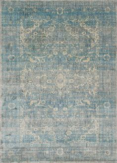 Vintage vibes. We think this gorgeous rug would fit in perfectly in a bohemian inspired space, especially lovely for a classic master bedroom.