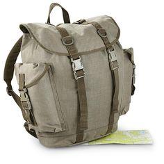 Used German Military Surplus Alpine Rucksack Olive Drab 580054 Rucksacks Backpacks At Sportsman S Guide