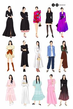Korean Girl Fashion, Korean Street Fashion, Young Fashion, Look Fashion, Kpop Fashion Outfits, Anime Outfits, Fashion Dresses, Cute Outfits, Moda Kpop