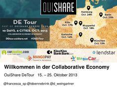 Willkommen in der Collaborative Economy - Präsentation von OuiShare