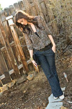 CarahAmelie blog - Wide Legs andLeopard