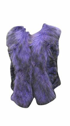 New Bergama Purple Rex Rabbit Vest with Tibet Lamb Collar and Tuxedo,S Original Retail is $800.. Closure Type: Hook/Eye. Fur Type: Rex Rabbit. Style: Vest. Material: Fur.  #Bergama #Apparel