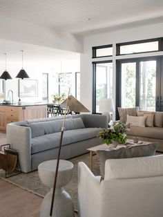 Wolverine Drive — Light & Dwell Small Living Rooms, Living Spaces, Living Room Inspiration, Design Inspiration, Fresh Farmhouse, Curved Sofa, Interior Decorating, Interior Design, Decorating Tips