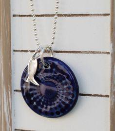 Silberketten - Maritime Kette mit Fisch KCA 40 - ein Designerstück von TonArts-Keramik bei DaWanda