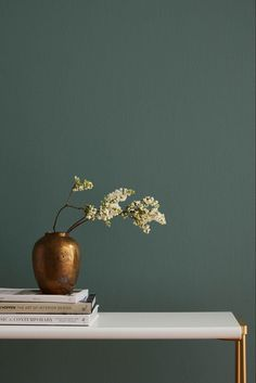 "Current Mood by Clare- a mysterious, moody green paint color that's intense and alluring all at once. ""THE DESIGN TRENDS THAT WILL BE IN AND OUT IN Elle Decor. Easy paint colors for your living Green Paint Colors, Interior Paint Colors, Room Colors, Paint Colors For Office, Colors For Bedrooms, Modern Paint Colors, Color Walls, House Colors, Home Decor Bedroom"