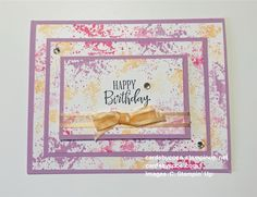 Triple Time Technique Birthday Card Using the Painted Poppies Stamp Set – cardsbycoco (Colleen Light)—Independent Stampin' Up! Demonstrator- DIY Crafts Happy Brithday, Handmade Stamps, Paper Crafts, Diy Crafts, Happy Birthday Images, Glue Dots, Masculine Cards, Your Cards, Poppies