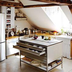 Attic kitchen