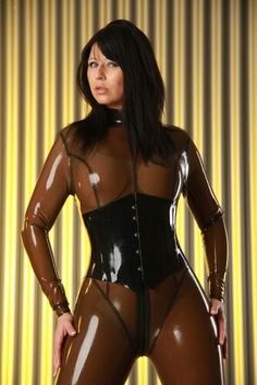 Lady in latex.