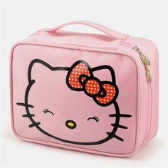 Women Makeup Cosmetics Bag Storage Pouch Cute Hello Kitty Pouch Oxford Cloth With Metal Zipper Travel Carrying Case – World of Hello Kitty Merchandise Chat Hello Kitty, Hello Kitty Bag, Travel Cosmetic Bags, Travel Toiletries, Travel Bag, Hello Kitty Merchandise, Custom Makeup Bags, Personalized Makeup Bags, Makeup Bag Organization