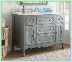 bath vanity furniture style-#bath #vanity #furniture #style Please Click Link To Find More Reference,,, ENJOY!! Blue Bathroom Vanity, Bathroom Vanity Lighting, Vanity Sink, Bath Vanities, Master Bathroom, Master Shower, Downstairs Bathroom, Sinks, Cheap Bathrooms