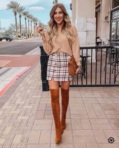 """Makenna Willhite on Instagram: """"The cutest mini I ever did see 💗 My sweater and skirt are both under $25 AND my boots are 40% off 🙌🏻🙌🏻 You can shop this look and others on…"""""""