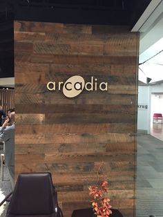 Stikwood Reclaimed Sierra Gold for Arcadia Contract on their beautiful furniture and new showroom redesign for Neo Con 2015!