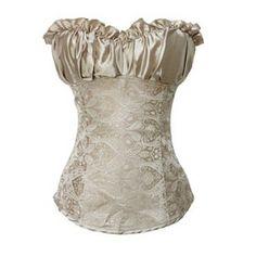 Muka Gold Elegant Printed Fashion Corset Top Bustier Lingerie, Gift Ideas $19.99   #Muka #corset