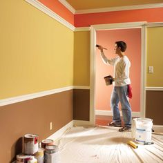 Home Interior, Interior Design, House Paint Interior, Kitchen Interior, Interior Ideas, Diy Casa, Professional Painters, Home Hacks, Home Repair